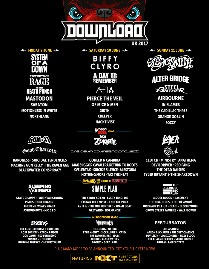 Download Festival - Download Line-up