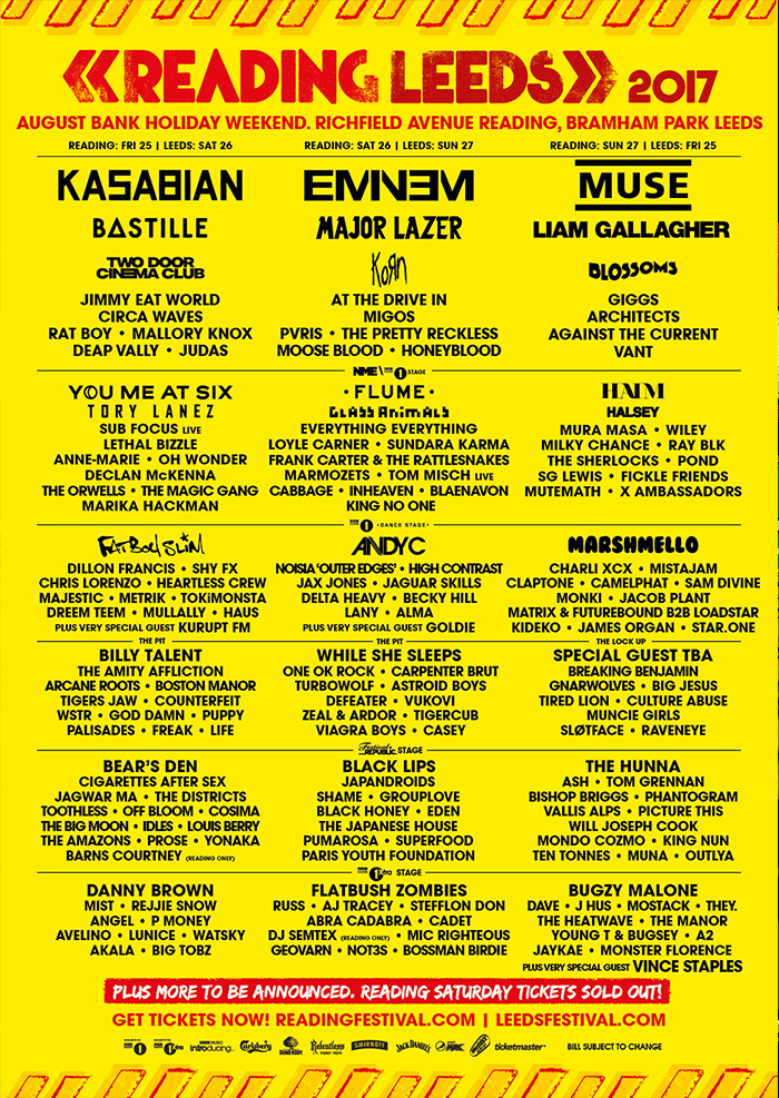 Reading & Leeds Festival - Reading and leeds Festival Line-up